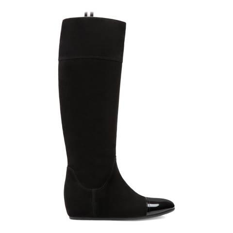 BALLY Black Suede Payan Long Boot