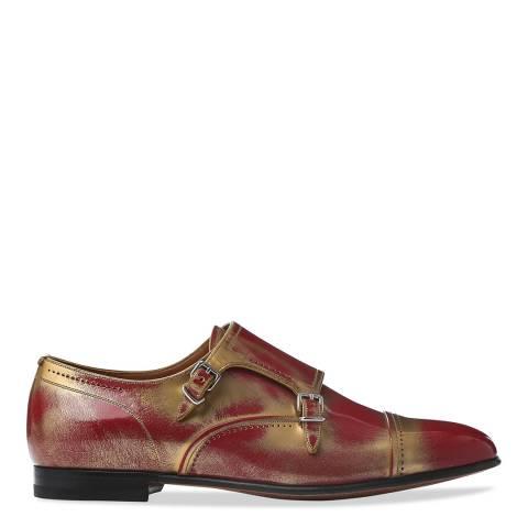 BALLY Garnet Gold Brushed Donelle Monk Shoe
