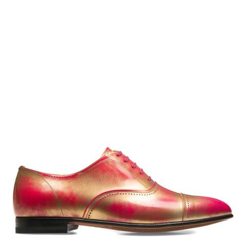 BALLY Shocking Pink & Gold Dulcia Oxford Shoe