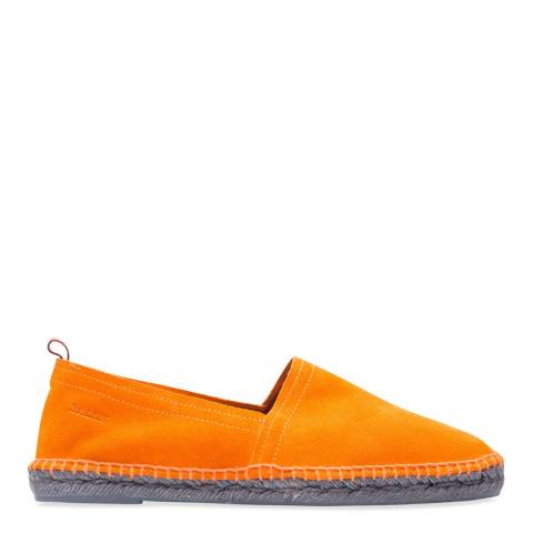 BALLY Tangerine Suede Espadrille Loafer