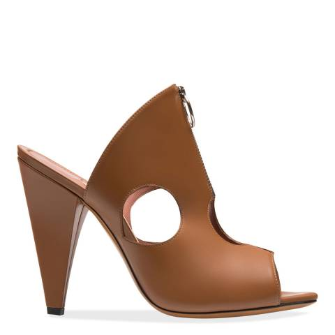 BALLY Tan Halda Heeled Sandal