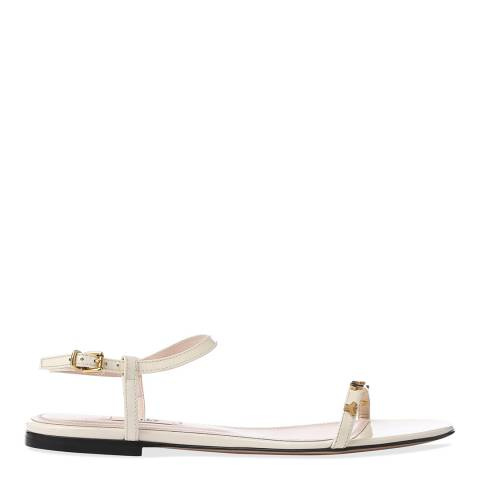 Bone White Patent Sonya Sandal by Bally