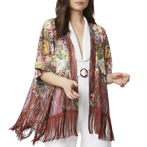 JayLey Collection Mocha Luxury Silk Devore Jacket