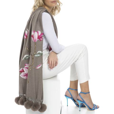 JayLey Collection Mocha Luxury Cashmere Blended Wrap