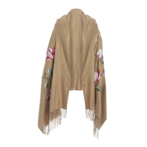 JayLey Collection Mocha Embroidery Wrap