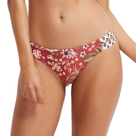 Milea By Seafolly Scarlet Gardenia Double Band Hipster