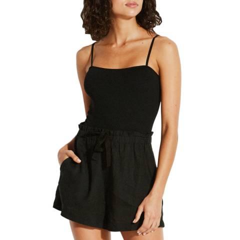 Seafolly Black Linen Cami