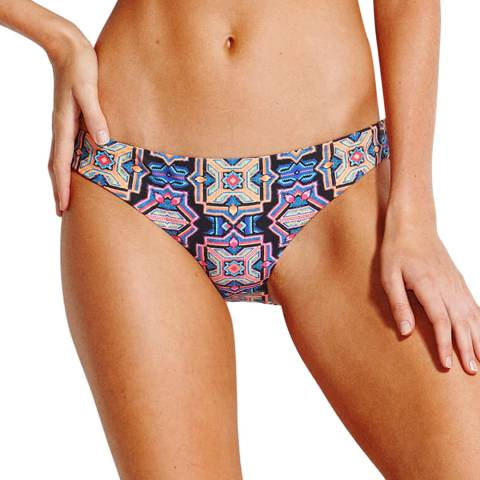 Seafolly Black Sun Temple Hipster Brief