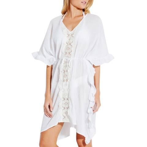 Seafolly White Lace Trim Kaftan