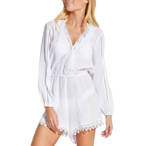Seafolly White Lace Trim Playsuit