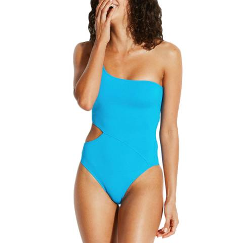Seafolly Electric Blue Active One Shoulder Maillot