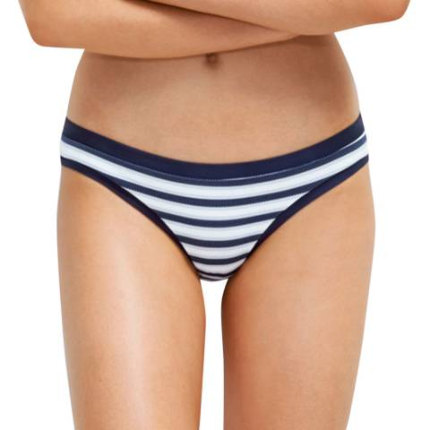 Milea By Seafolly Navy Pinstitch Stripe Hipster Pant