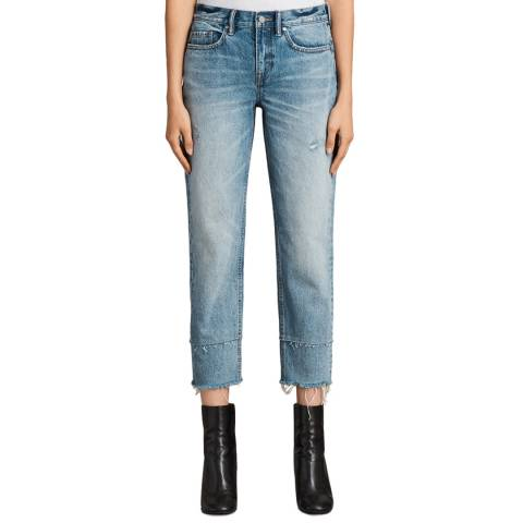 AllSaints Light Blue Boys Frayed Jeans