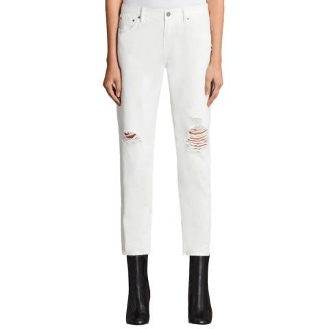 AllSaints White Muse Slim Destroy Jeans