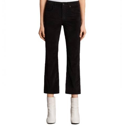 AllSaints Black Heidi Cropped Jeans