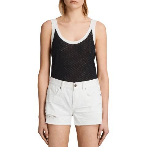 AllSaints Navy/White Covey Vest