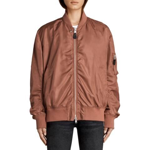 AllSaints Rust Myra Bomber Jacket