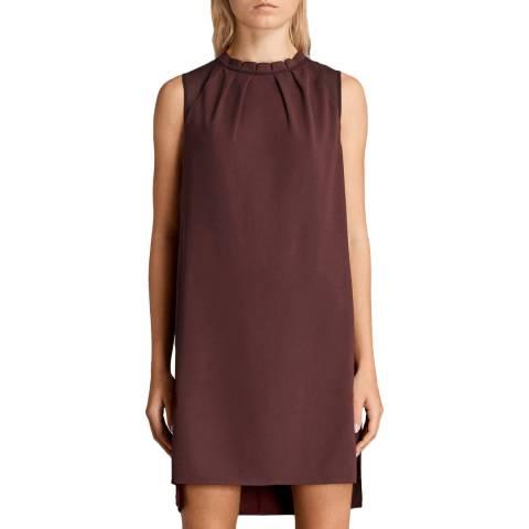 AllSaints Bordeaux Jay Dress