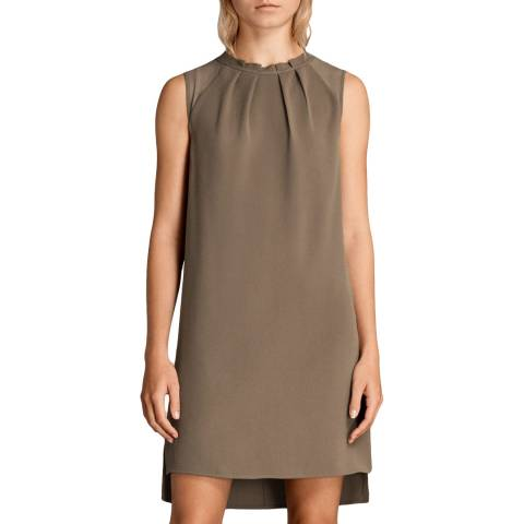 AllSaints Khaki Jay Dress