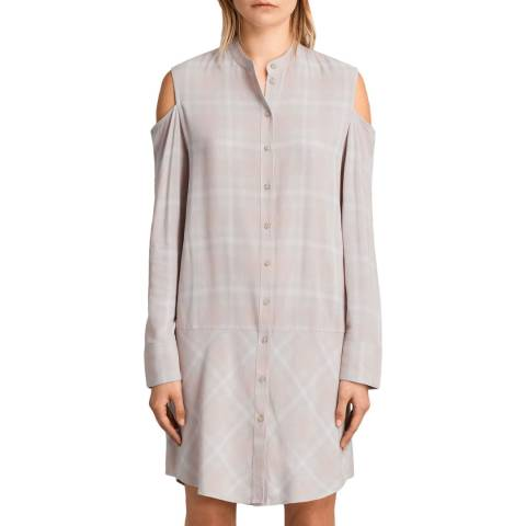 AllSaints Grey Check Floria Check Dress