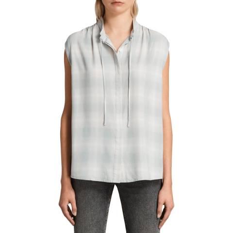 AllSaints Grey Check Raya Shirt