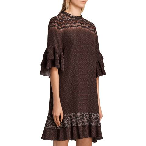AllSaints Red Rauem Anokhi Dress