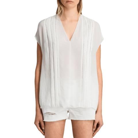 AllSaints White Ella Top