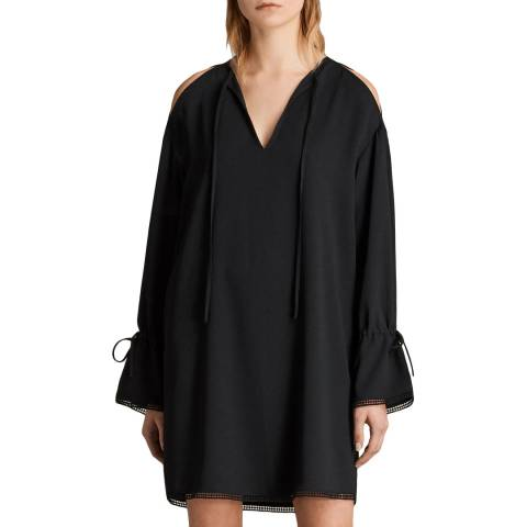 AllSaints Black Aster Dress