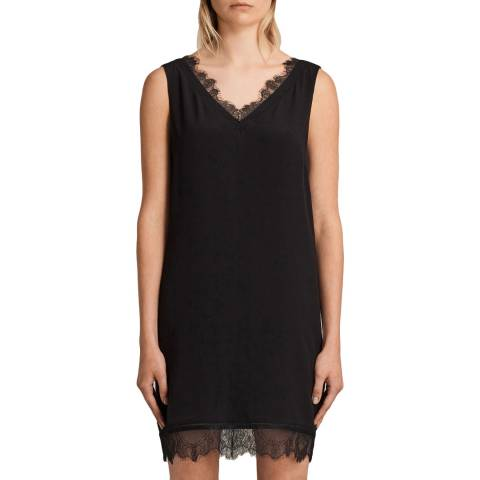 AllSaints Black Camia Lace Dress