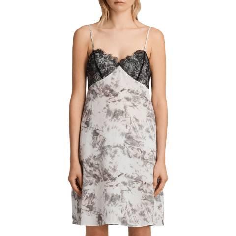 AllSaints Grey Ives Tyde Silk Dress