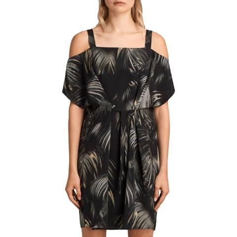 AllSaints Black Rae Neluwa Silk Dress