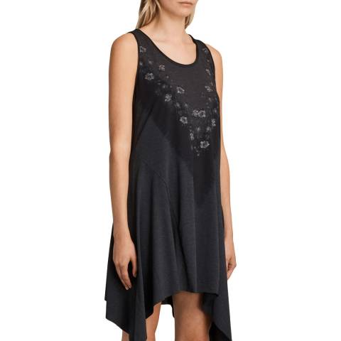 AllSaints Charcoal Tany Loire Dress