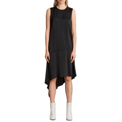 AllSaints Black Elie Dress