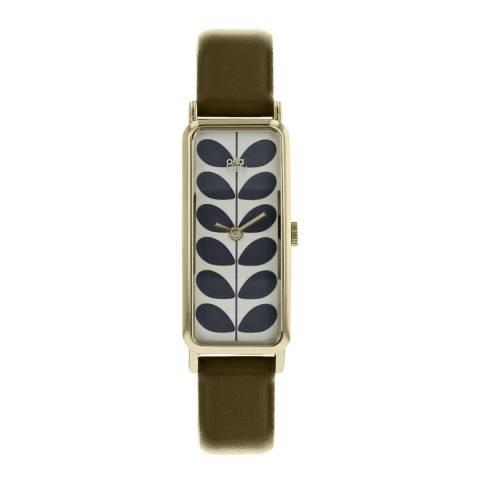 Orla Kiely Two Tone Green Stem Watch
