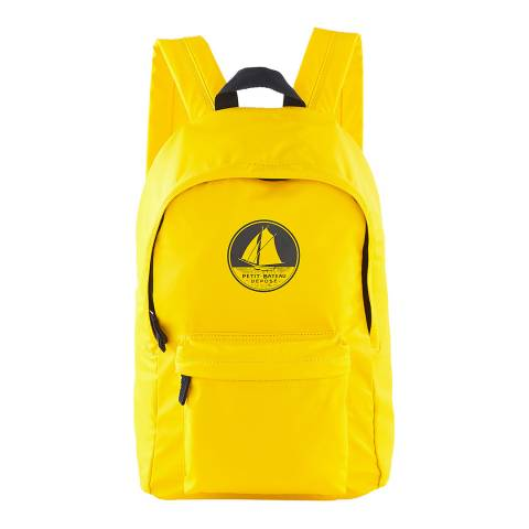 Petit Bateau Yellow Waterproof Backpack