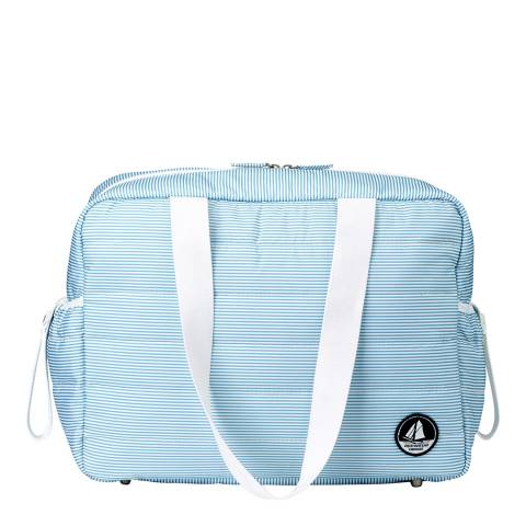 Petit Bateau Blue/Off White Baby Changing Bag