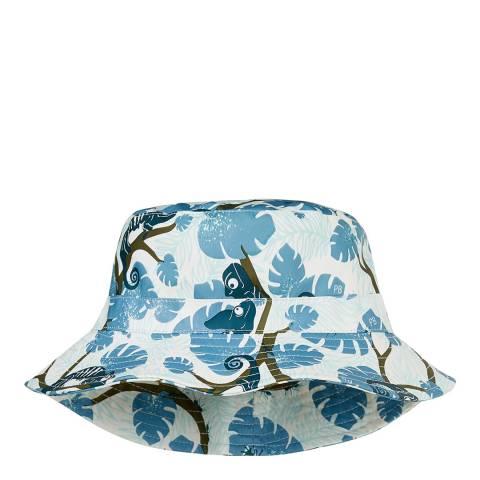 Petit Bateau Off White/Chameleon Print Sun Hat