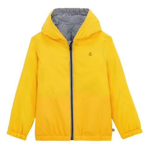 Petit Bateau Yellow Reversible Windbreaker Jacket