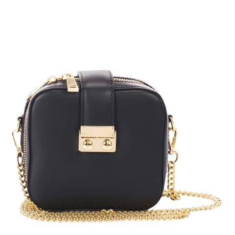Markese Black Leather Chain Bag