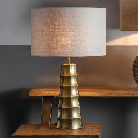Gallery Antique Brass Halock Table Lamp Base