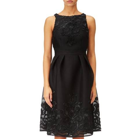Adrianna Papell Black Lace Cocktail Dress