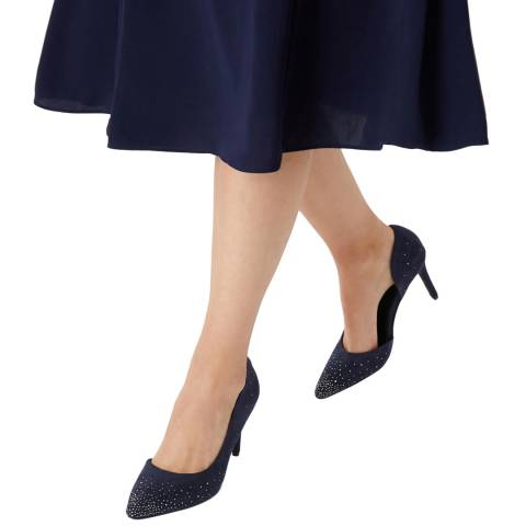 Coast Navy Aayliah Hot Fix Heels