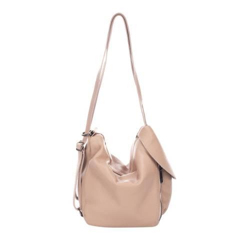 Giulia Massari Pink Leather Shoulder Bag