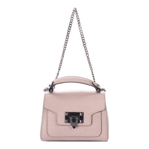 Lisa Minardi Blush Leather Top Handle Bag