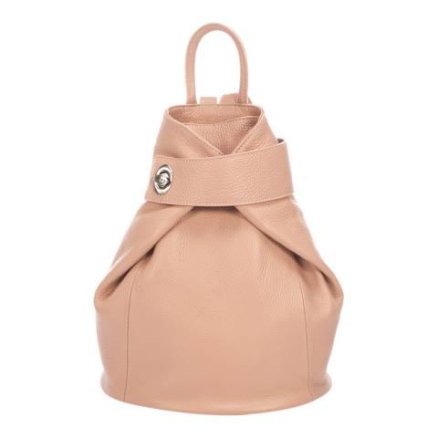 Lisa Minardi Pink Leather Backpack