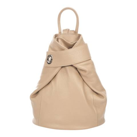 Lisa Minardi Taupe Leather Backpack