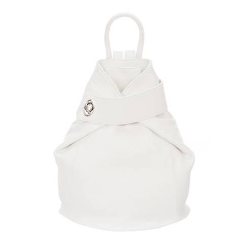 Lisa Minardi White Leather Backpack