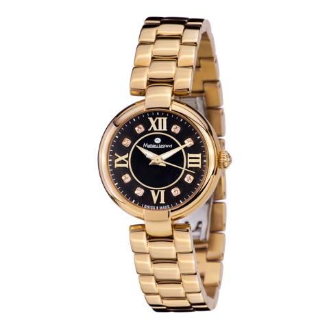 Mathieu Legrand Women's Gold Stainless Steel Watch