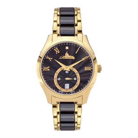 Richtenburg Women's Gold Black Stainless Steel Quartz Watch