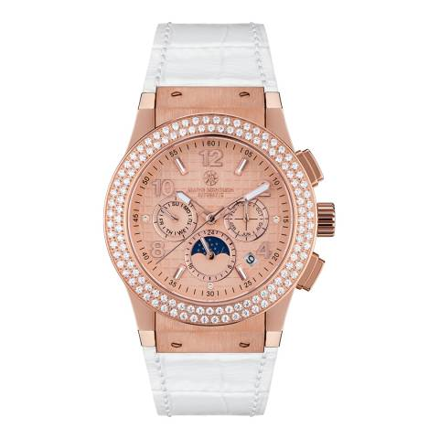 Mathis Montabon Women's White/Rose Gold Noblesse Watch